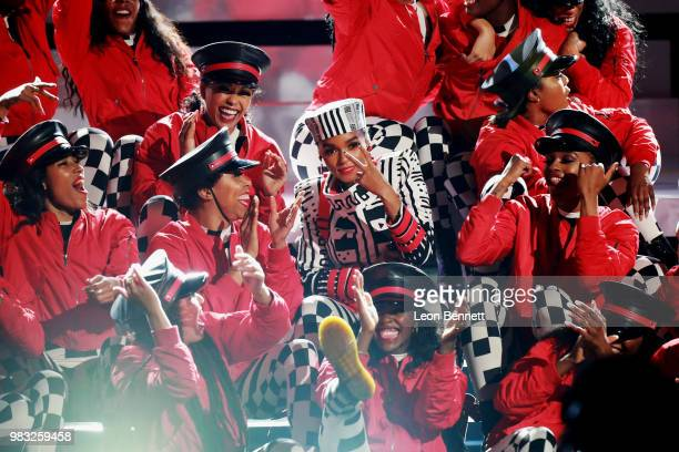 Janelle Monae performs onstage at the 2018 BET Awards at Microsoft Theater on June 24 2018 in Los Angeles California
