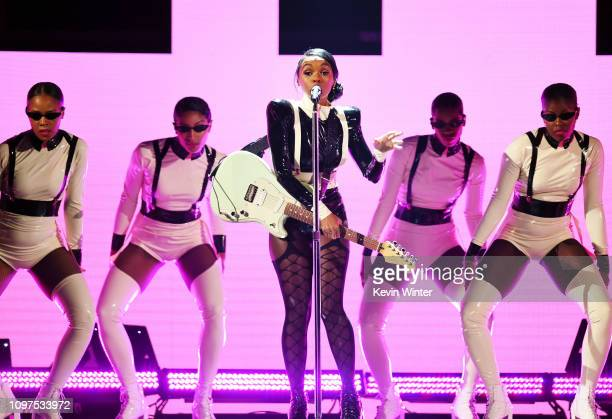 Janelle Monae performs onstage during the 61st Annual GRAMMY Awards at Staples Center on February 10 2019 in Los Angeles California