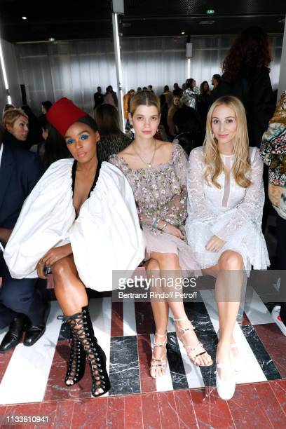 Janelle Monae, Pixie Geldof and Harley Viera-Newton attend the Giambattista Valli show as part of the Paris Fashion Week Womenswear Fall/Winter...