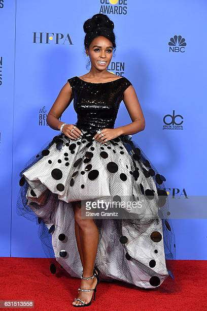 Janelle Monae poses at the 74th Annual Golden Globe Awards at The Beverly Hilton Hotel on January 8, 2017 in Beverly Hills, California.