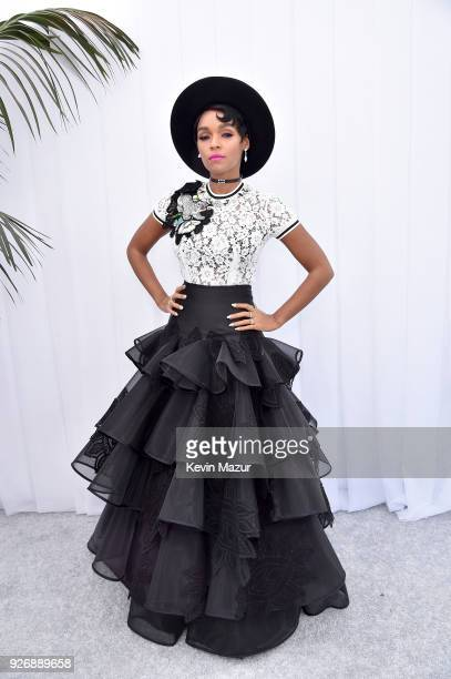 Janelle Monae poses during the 2018 Film Independent Spirit Awards on March 3 2018 in Santa Monica California
