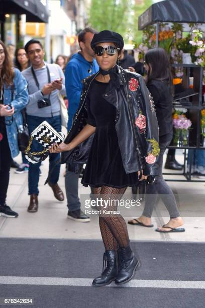 Janelle Monae seen out in Manhattan before MET Gala on May 1 2017 in New York City