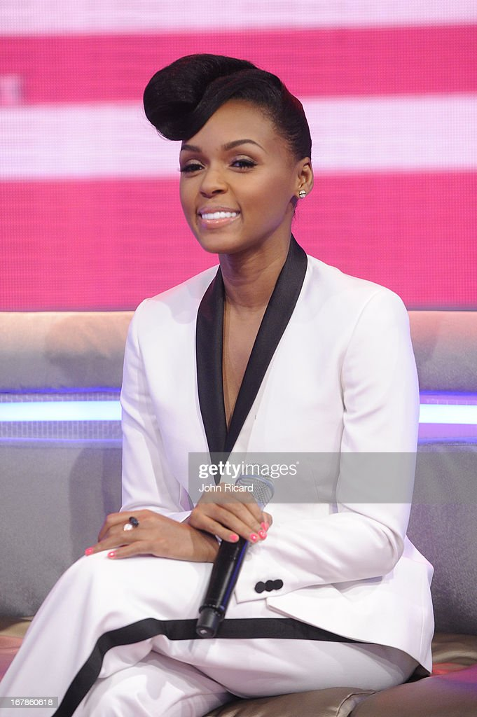 Janelle Monae visits BET's '106 & Park' at BET Studios on May 1, 2013 in New York City.