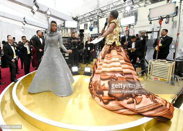 Janelle Monáe and Billy Porter attend the 92nd Annual Academy Awards at Hollywood and Highland on February 09, 2020 in Hollywood, California.