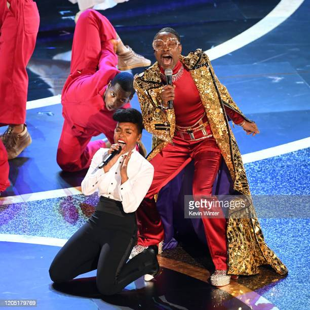 Janelle Monáe and Billy Porter perform onstage during the 92nd Annual Academy Awards at Dolby Theatre on February 09 2020 in Hollywood California