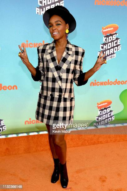 Janelle Monáe attends Nickelodeon's 2019 Kids' Choice Awards at Galen Center on March 23 2019 in Los Angeles California