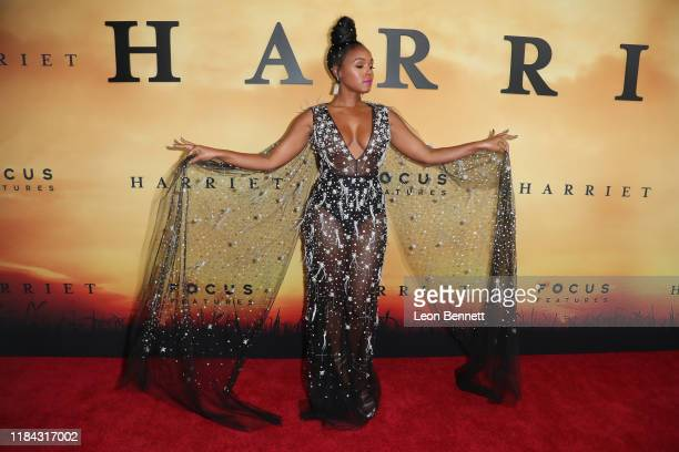 """Janelle Monáe attends Premiere Of Focus Features' """"Harriet"""" at The Orpheum Theatre on October 29, 2019 in Los Angeles, California."""