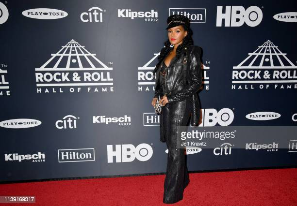 Janelle Monáe attends the 2019 Rock & Roll Hall Of Fame Induction Ceremony at Barclays Center on March 29, 2019 in New York City.