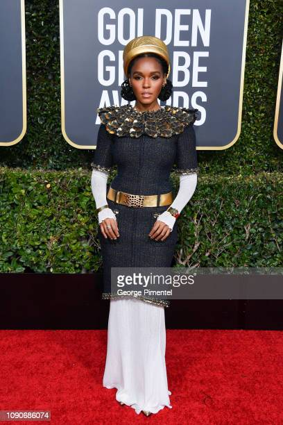 Janelle Monáe attends the 76th Annual Golden Globe Awards held at The Beverly Hilton Hotel on January 06 2019 in Beverly Hills California