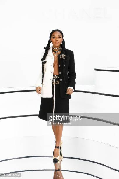 Janelle Monáe attends the Chanel show as part of the Paris Fashion Week Womenswear Fall/Winter 2020/2021 on March 03 2020 in Paris France