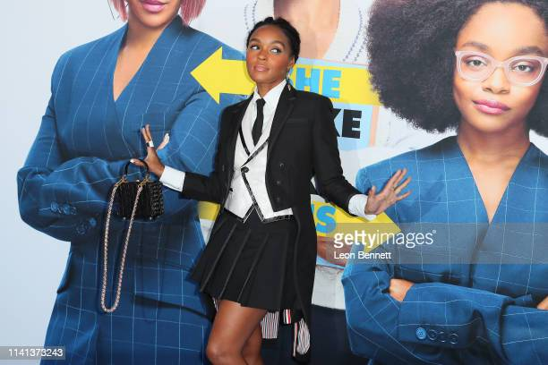 "Janelle Monáe attends The Premiere Of Universal Pictures ""Little"" at Regency Village Theatre on April 08, 2019 in Westwood, California."