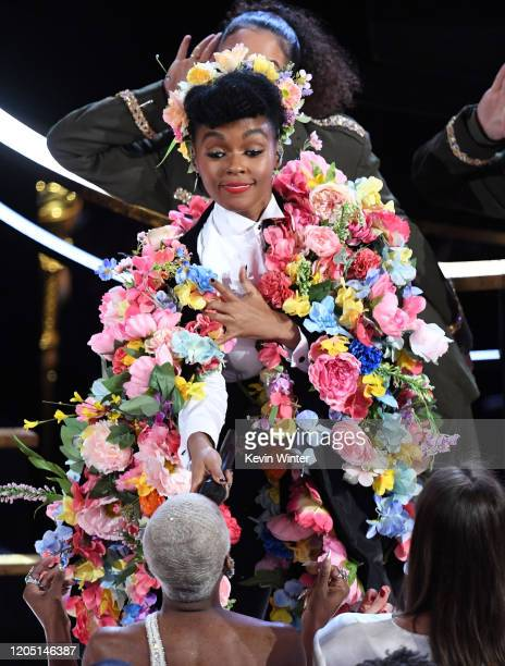 Janelle Monáe performs onstage during the 92nd Annual Academy Awards at Dolby Theatre on February 09 2020 in Hollywood California