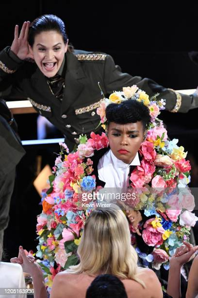 Janelle Monáe performs onstage during the 92nd Annual Academy Awards at Dolby Theatre on February 09, 2020 in Hollywood, California.