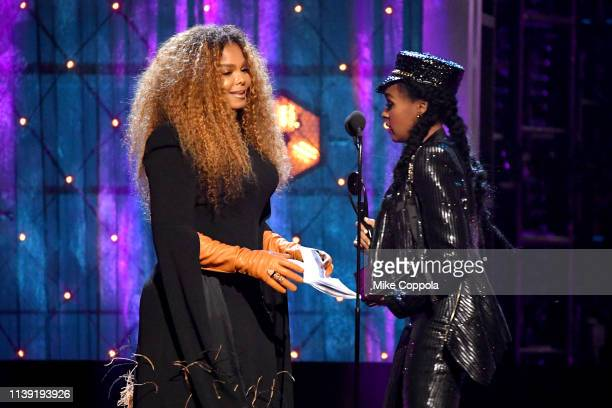 Janelle Monáe presents Inductee Janet Jackson at the 2019 Rock & Roll Hall Of Fame Induction Ceremony - Show at Barclays Center on March 29, 2019 in...