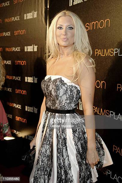 Janelle Perry arrives at the Grand Opening of Palms Place Hotel & Spa, Palms Las Vegas on May 31, 2008 in Las Vegas, Nevada.