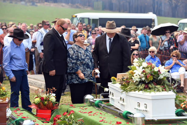 AUS: Cobargo And Wandella Communities Come Together For Funeral Of Father And Son Killed In Bushfires