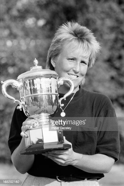Janes Geddes after winning the Weetabix Women's British Open during the final day of the 1989 Women's British at Ferndown Golf Club on August 7 1989...