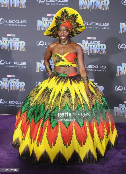 Janeshia AdamsGinyard attends the Los Angeles Premiere 'Black Panther' at Dolby Theatre on January 29 2018 in Hollywood California