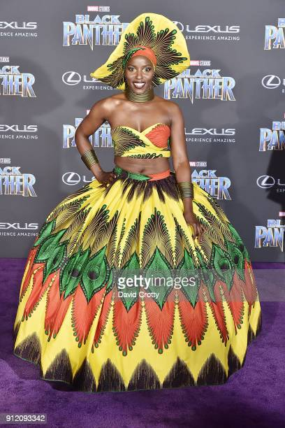Janeshia AdamsGinyard attends the Premiere Of Disney And Marvel's 'Black Panther' Arrivals on January 29 2018 in Hollywood California