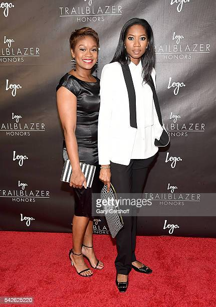 Janessa Cox and Lanaya Irvin attend 2016 Logo's Trailblazer Honors at Cathedral of St John the Divine on June 23 2016 in New York City
