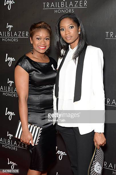 Janessa Cox and Lanaya Irvin attend the 2016 Trailblazer Honors event at Cathedral of St John the Divine on June 23 2016 in New York City