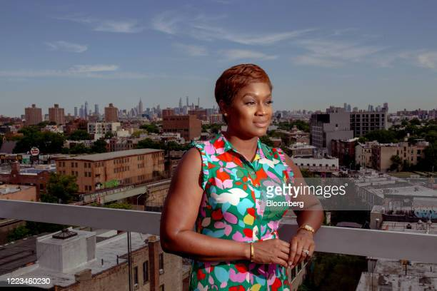 Janessa CoxIrvin global head of diversity and inclusion at AllianceBernstein Holdings LP stands for a photograph in the Brooklyn Borough of New York...