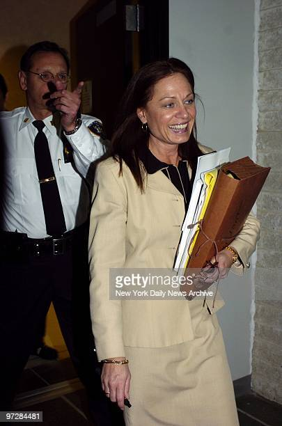Janet Albertson prosecutor in the Daniel Pelosi murder trial walks from court