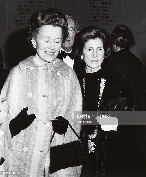 Janet Auchincloss and Guest during Opening of the Hall of Fame at the Uris Theater at Uris Theater in New York City New York United States
