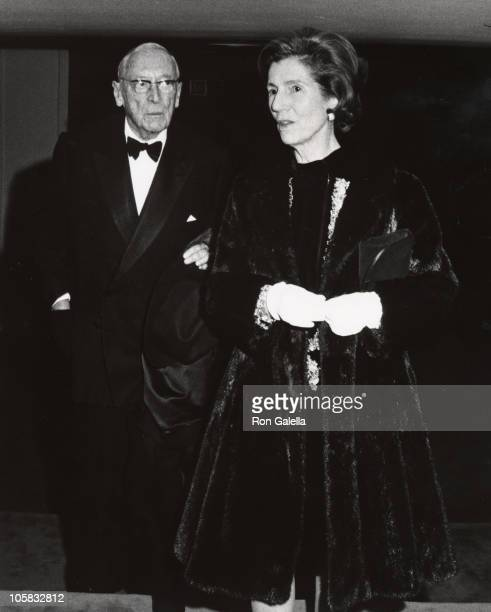 Janet Auchincloss and Hugh Auchincloss during Opening of the Hall of Fame at the Uris Theater at Uris Theater in New York City New York United States