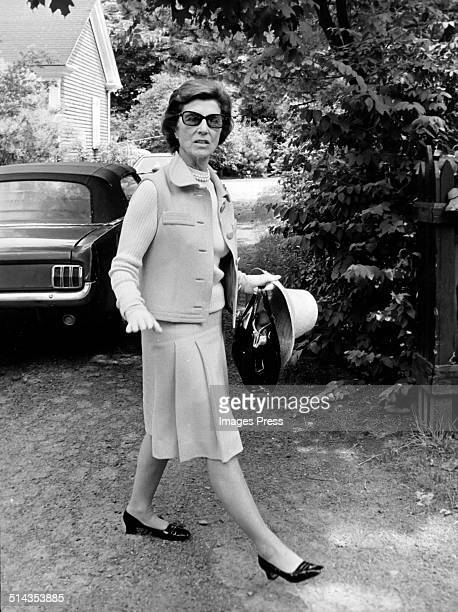 Janet Auchincloss attends Caroline Kennedys Graduation from Concord Academy on June 5 1975 in Concord Massachusetts
