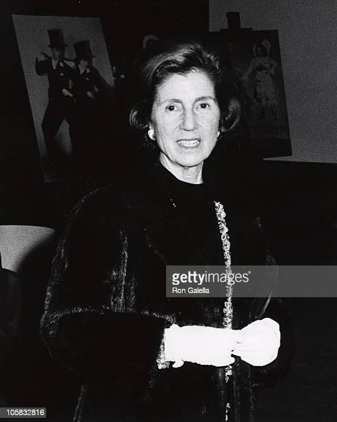 Janet Auchincloss during Opening of the Hall of Fame at the Uris Theater at Uris Theater in New York City New York United States