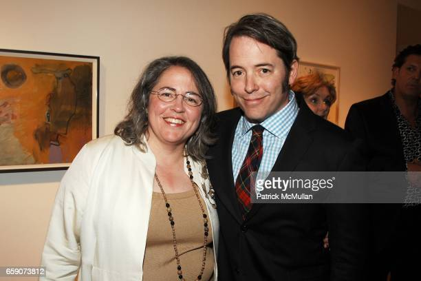 Janet Broderick and Mattew Broderick attend Patrica Broderick Exhibit at The Tibor de Nagy Gallery on April 30 2009 in New York City