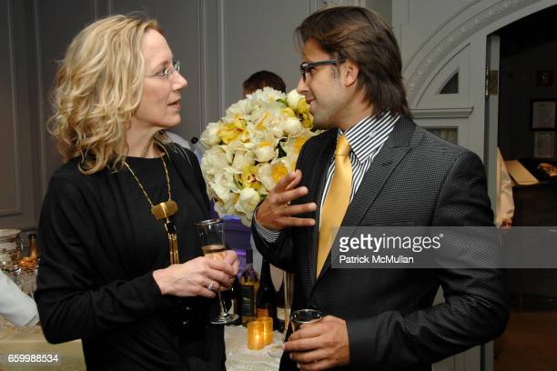 Janet Carlson and Christopher Roselli attend SUZANNE SAPERSTEIN Hosts Private Cocktail Event at LEVIEV at Leviev on May 14 2009 in New York