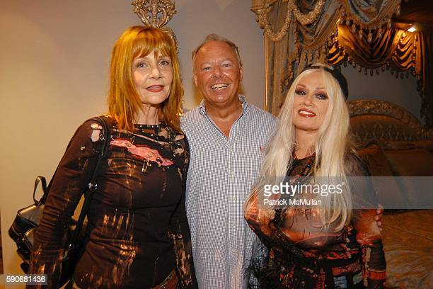 Janet Charlton Richard Mineards and Mamie Van Doren attend MAC Cosmetics and Patrick McDonald Hosts party for Eve Kitten at Phyllis Morris in West...