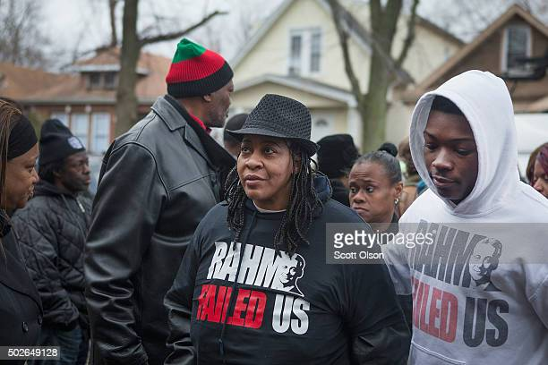 Janet Cooksey the mother of Quintonio LeGrier attends a vigil for her son on December 27 2015 in Chicago Illinois LeGrier a 19yearold college student...