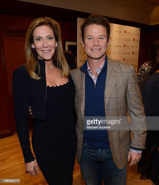 Janet Crown and Billy Bush attend the Faconnable Kicks Off The Holidays Shopping Event Benefitting Lollipop Theater Network at Faconnable on November...