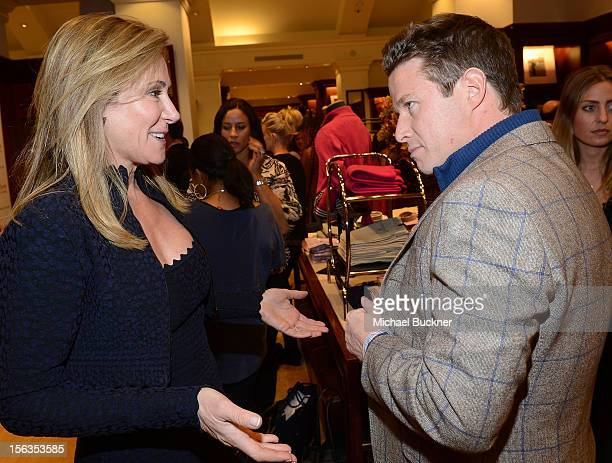 Janet Crown and television personality Billy Bush attend the Faconnable Kicks Off The Holidays Shopping Event Benefitting Lollipop Theater Network at...