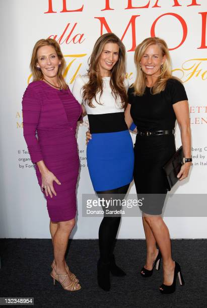Janet Crown Christina Zilber and Crolyn Powers attend Il Teatro Exhibit on November 11 2011 in Beverly Hills California