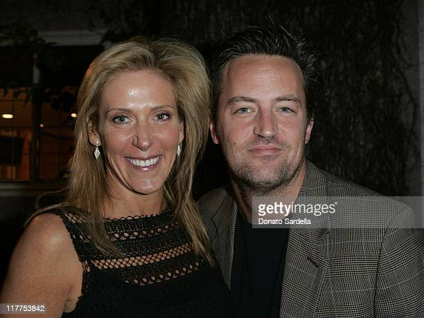 Janet Crown Peterson and Matthew Perry during Stars Make Their Voices Heard at a Silent Auction for Lollipop Theater Network at Private Home in...