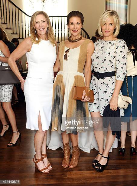 Janet Crown Sally Perrin and Judith Godreche attend Annual PS ARTS Bag Lunch on May 29 2014 in Los Angeles California
