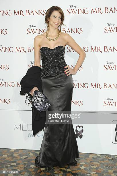 Janet De Nardis attends the 'Saving Mr Banks' premiere at The Space Moderno on February 6 2014 in Rome Italy