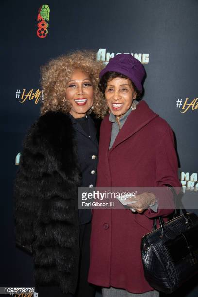 Ja'net DuBois and Marla Gibbs attend the 27th Annual Pan African Film Arts Festival Opening Night Red Carpet at Cinemark Los Angeles Baldwin Hills 15...