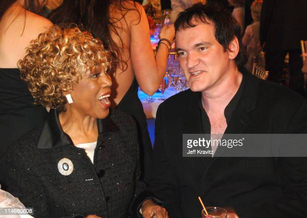 Ja'net Dubois and Quentin Tarantino during 2006 TV Land Awards Backstage and Audience at Barker Hangar in Santa Monica California United States