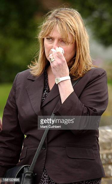 Janet Ellis Attends The Funeral Of Caron Keating At Herver Castle In Kent