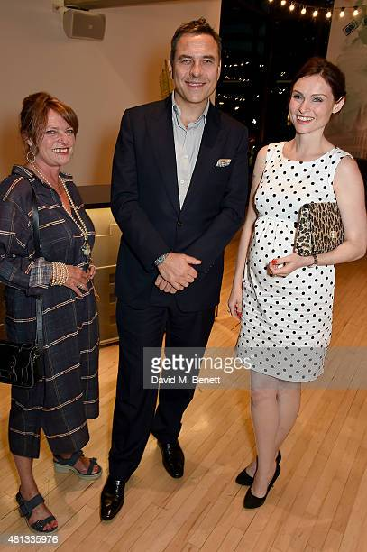 Janet Ellis David Walliams and Sophie EllisBextor attend the press night performance of 'The Car Man' at Sadler's Wells Theatre on July 19 2015 in...