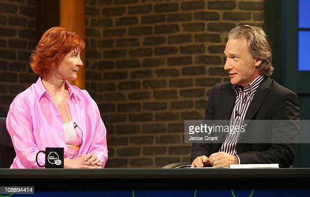Janet Evanovich and Bill Maher during Amazoncom Fishbowl with Bill Maher June 22 2006 in Hollywood California United States
