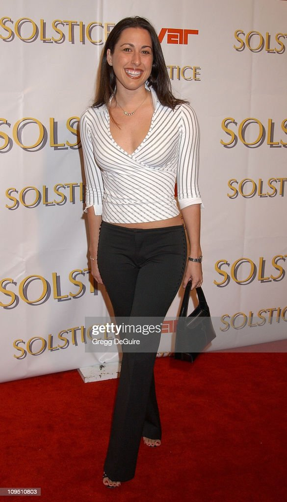 Janet Evans during Safilo USA Hosts Celebrity-Studded Spring 2003 Designer Sunglass Fashion Show Extravaganza and Launch Party for the New Beverly Hills Solstice Store at Beverly Center - Arrivals Produced by Media Placement at Ivar in Hollywood, California, United States.
