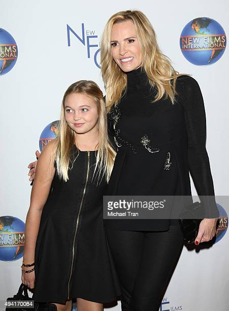 Janet Gretzky and daughter Emma Gretzky arrive at the Los Angeles premiere of The Sound And The Fury held at Beverly Hills Fine Arts Theater on...