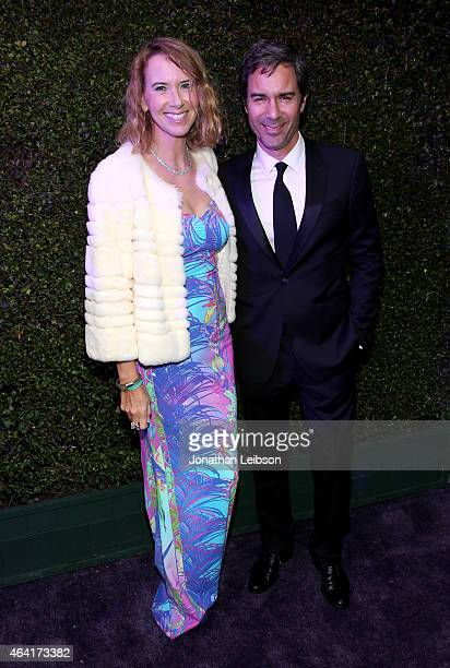 Janet Holden and actor Eric McCormack attend ROCA PATRON TEQUILA at the 23rd Annual Elton John AIDS Foundation Academy Awards Viewing Party on...
