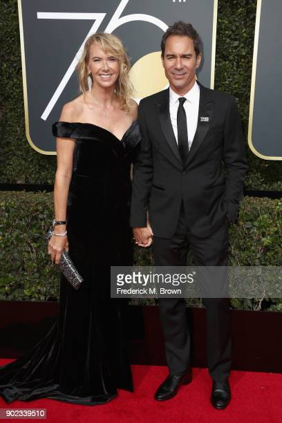 Janet Holden and Eric McCormack attends The 75th Annual Golden Globe Awards at The Beverly Hilton Hotel on January 7 2018 in Beverly Hills California